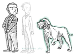 Mycroft Holmes Chibi and Hound by Windmaedchen