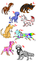 Dog Adopts-OPEN by Wolfies--Adopts