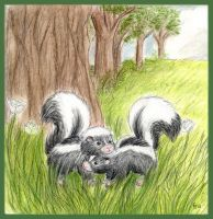 Love Between Skunks by Porcubird