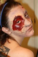 Zombie makeup by LaurenWiles
