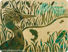 Marsh - Cut Paper by JuliaGraceArts