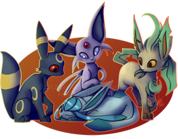 Pokemon - Eeveelutions 2 by ZaidaCrescent