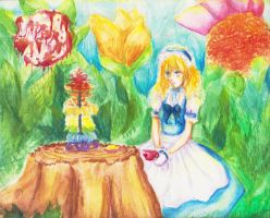Alice's Lonely Tea Party by emisa