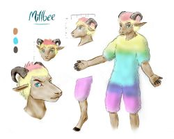 Millbee Reference Sheet by DazeDawning