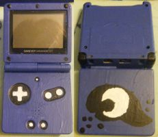 Princess Gamer Luna's Gameboy Advance Sp by InsaneSpyro