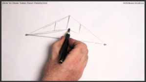 Learn how to draw three point perspective 002 by drawingcourse
