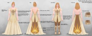DA:I Winter Palace Dress Design with Annotations by Refinition