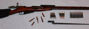 Russian 1942 Mosin-Nagant w/ Accessories by FennecPhotography