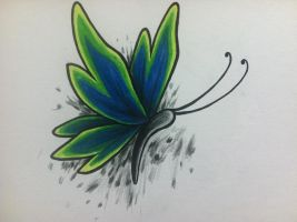 butterfly tattoo design by clearfishink