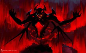 Shadow Fiend: Speed Paint by Tekamza