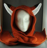 Fox Fleece Hoodie Hat Scarf by wikiwisemandotcom