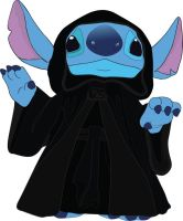 Stitch as Emperor Palpatine by liamjay