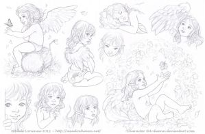 Sketchpage -Elerus 6-7 by Saimain