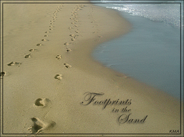 Footprints in the Sand by Lil-Miss-Strange