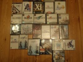 My Final Fantasy Games by AigisNoir