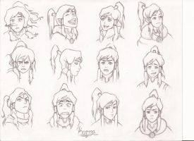 Korra Expressions by JFuller30