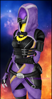 Tali'Zorah vas Normandy by kasushka