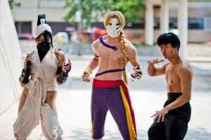 Street Fighter cosplays by adambomb7