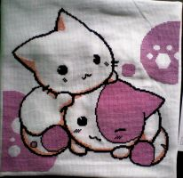 Kittys-cross stitch by AnCuSa