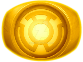 Yellow Lantern Ring Coloured by KalEl7