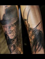 Freddy Kreuger Tattoo by filthmg