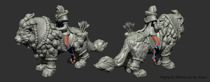 MIrana Winter Sentinel Set - Highpoly Sculpt by Anuxinamoon