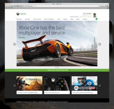 Xbox.com Homepage Redesign by Ohsneezeme