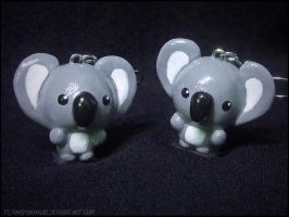 Koala Earrings by FlyingPandaGirl