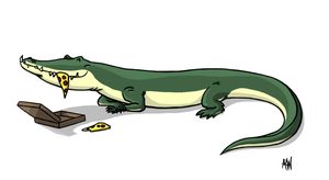 Pizza Croc by RustyBlackbird