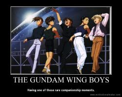 Gundam Wing Motivational Poster 2 by slyboyseth