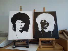 Jim Morrison Negatives by harbroyn