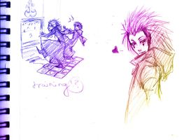 KH doodles ddr axel by angichan