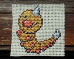 Weedle Cross Stitch by Mickeycricky