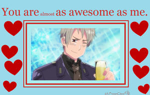 Hetalia Valentine: Prussia is Awesome by FrozenClaws