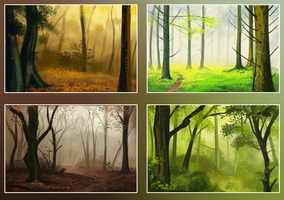 landscape studies by DawnFrost