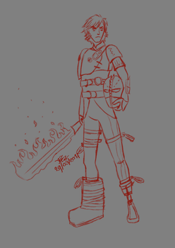 Daily Sketch [Hiccup - httyd2] by DragonSlayerTez