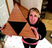 WOODEN TRIFORCE by Louness26