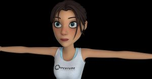 Chell textures by Nha Hoang -- Detail by alexzemke