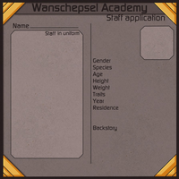Academy Staff Application by Dianamond