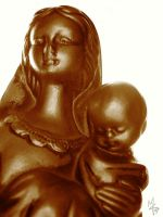 Madonna and Child by mon-mothma