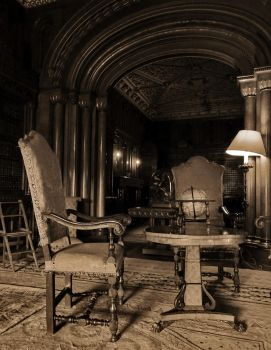 Table and chair - Penryth Castle by UdoChristmann