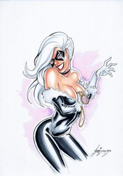 SEXY BLACK CAT by HM1art
