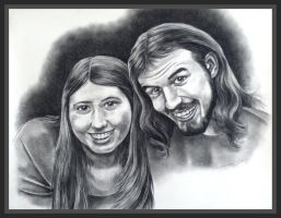 Charcoal Portrait by TerrifyingLint