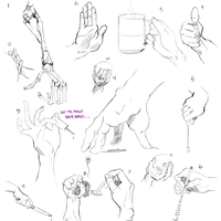 Hand studies by Eowynu