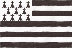 Hand-drawn flag of Brittany, France by cool1097
