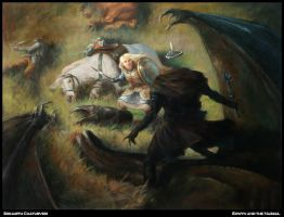 Eowyn and the Nazgul by SidharthChaturvedi