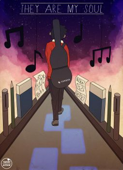 Art and Music are my soul by Fakhriii