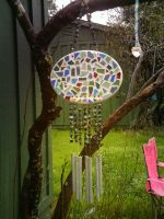Mosaic Wind Chime by MandyMcPebbleFace