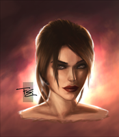 Lara Croft Portrait 2 by FearEffectInferno