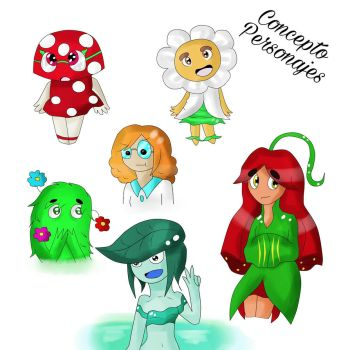 Concepto Personajes 1/2 by OniGamerXD